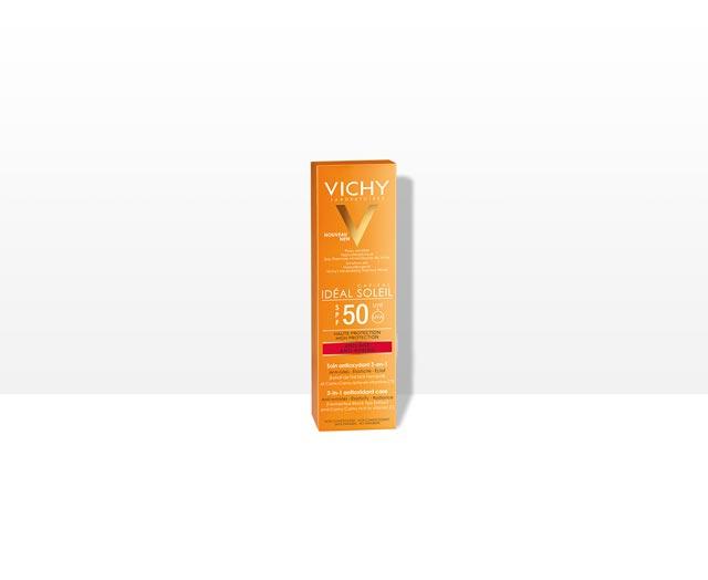 Anti-âge Soin Antioxydant 3-en-1 SPF 50 | Vichy Ideal Soleil