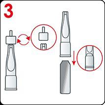 Comment appliquer les ampoules Vichy: étape 3