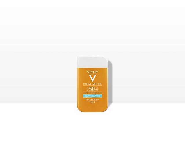 SPF 50 en format de poche   Vichy Ideal Soleil