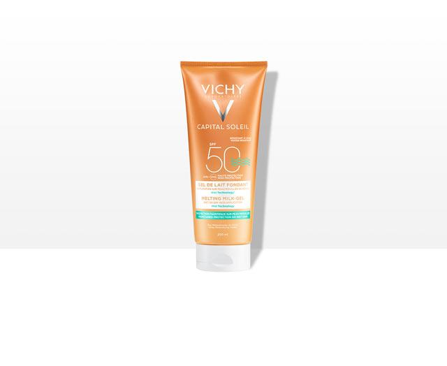Gel de lait ultra-fondant sur peau mouillée ou sèche - SPF 50