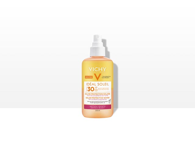 Eau de Protection Solaire SPF 30 – Antioxydante   Vichy Ideal Soleil
