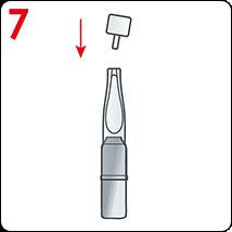 Comment appliquer les ampoules Vichy: Fermer l'applicateur avec le capuchon en plastique