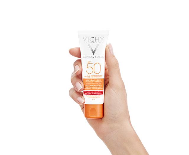 Anti-âge Soin Antioxydant 3-en-1 SPF 50