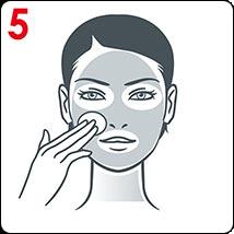 Comment appliquer les ampoules Vichy: Appliquer sur l'ensemble du visage, du cou et du contour des yeux avec un coton, en évitant les cils.
