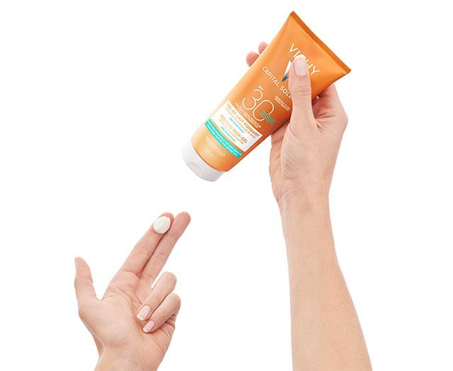 Ultrasmeltende melkgel SPF 30