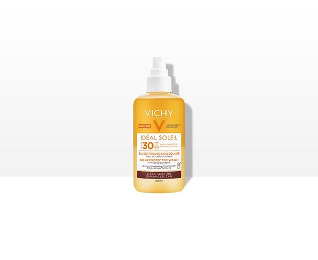 Ideal Soleil Zonbeschermend Water SPF 30 – Optimale bruine teint | Vichy