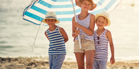Zonnebrandbescherming: De allerjongsten snel beschermen tegen de zon?
